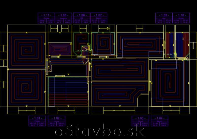Domček - Podlahové kúrenie